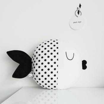 Fish Pillow with Dots - Wanda