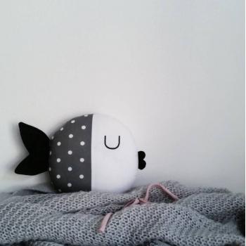 Grey Fish Pillow - Wanda