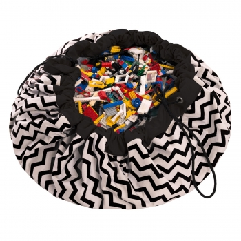 Black Zigzag Storage Bag & Playmat