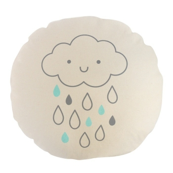 Round Cushion - Cloud & Rain