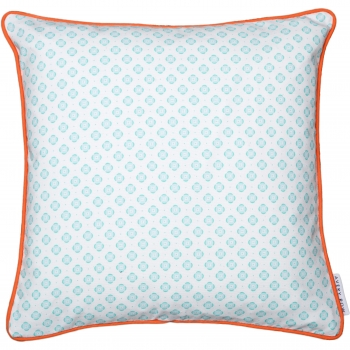 Mint Round in Circles Cushion