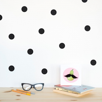 Black Polka Dot Wallstickers