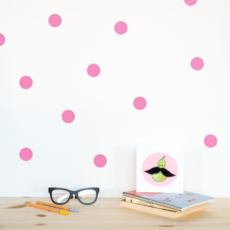 Pink Polka Dot Wallstickers