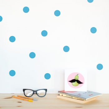 Blue Polka Dot Wallstickers