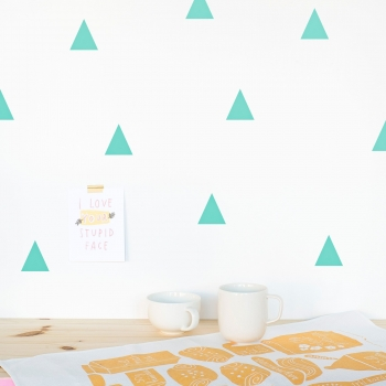 Mint Triangle Wallstickers