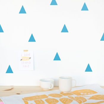Blue Triangle WallstickerS