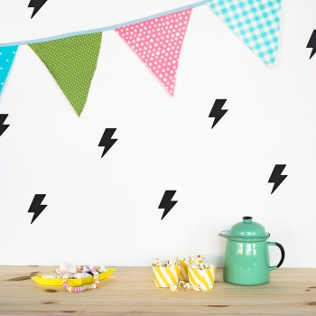 Black Lightning Wallstickers
