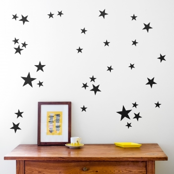 Black Star Wallstickers