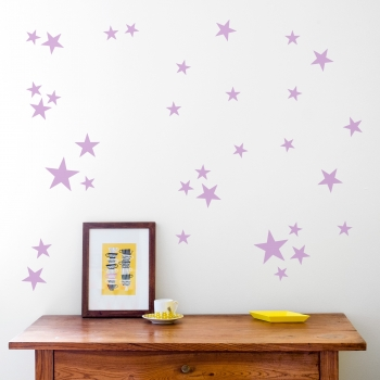 Lavender Star Wallstickers