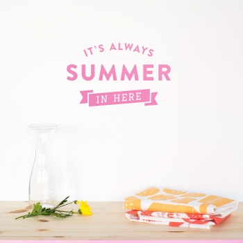 'Always Summer' Pink Quote
