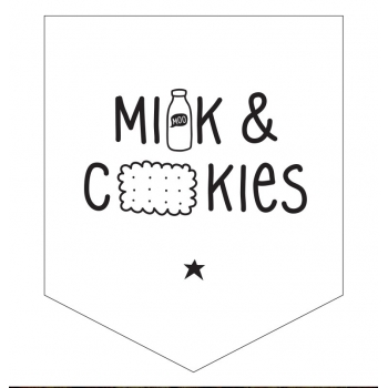 Milk & Cookies mini wall flag