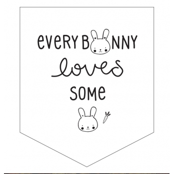 Bunny mini wall flag