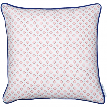 Coral Round in Circles Cushion