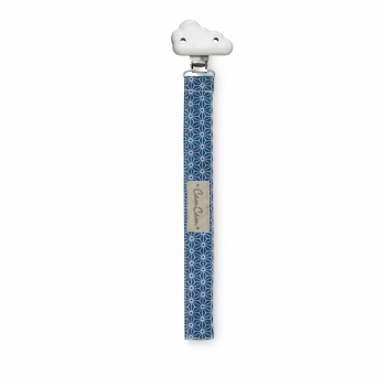 Sashiko Blue Pacifier Holder