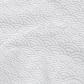 Grey Wave Cot Bumper