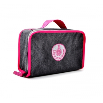 Grey / Pink Lunch Box
