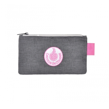 Small Grey / Pink Pencil Case