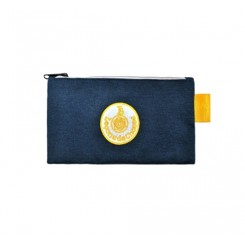 Small Dark Blue / Yellow Pencil Case