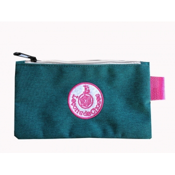 Small Green / Pink Pencil Case