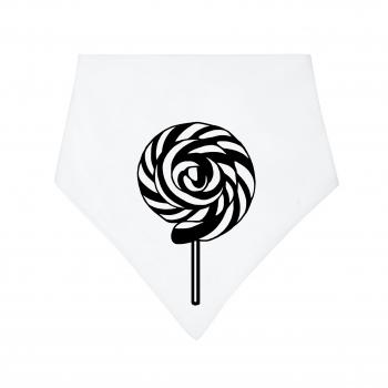 Black / White Lollipop Dribble Bib