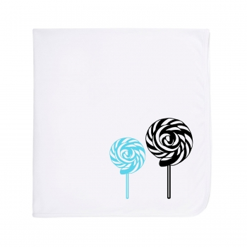 Blue / Black Lollipop Blanket