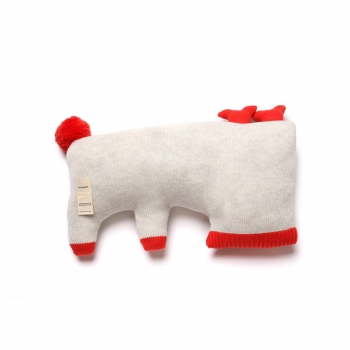 Oh Deer Cushion - Light Grey