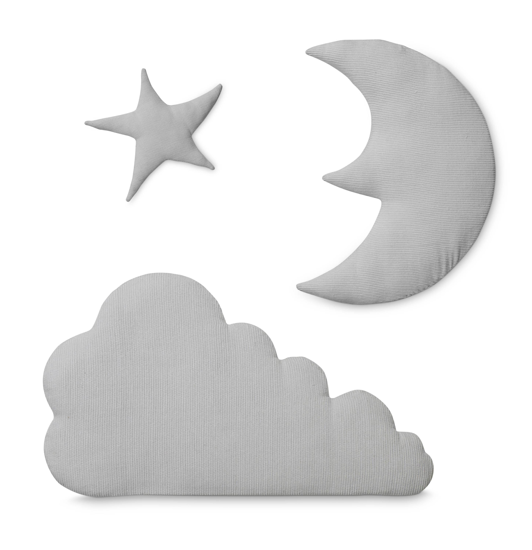 Light grey moon star cloud wall decoration cam cam heylittlebaby amipublicfo Gallery
