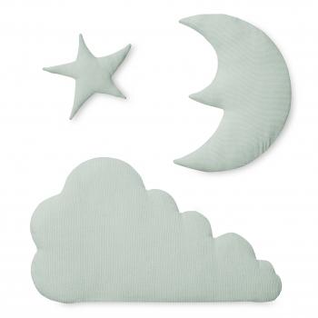 Mint Moon Star Cloud Wall Decoration