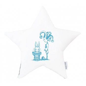 Jester Bunny Star Cushion