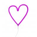 Pink Heart Neon Light