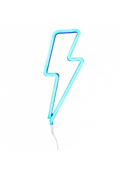 Blue Lightning Bolt Neon Style Light