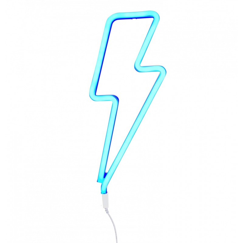 Blue Lightning Bolt Neon Style Light A Little Lovely