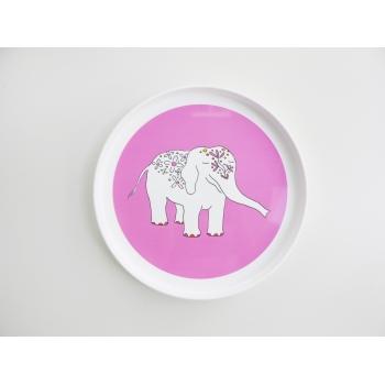Pink Elephant Plate