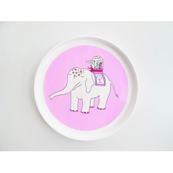 Fuchsia Elephant Plate