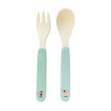 Bamboo cutlery set - Lovely Animals