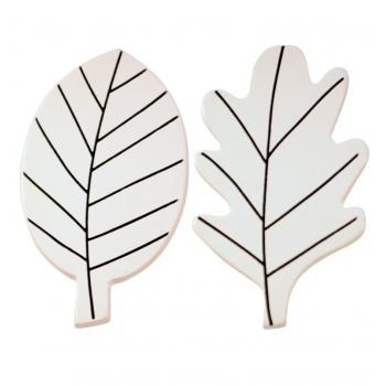White Leaves Wall Hooks
