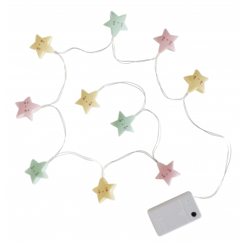 Pastel Stars String Lights