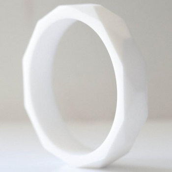 White Teething Bangle