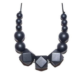 Black Hexagone Teething Necklace