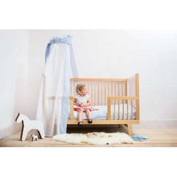 Cot Bedding - Phenix Blue