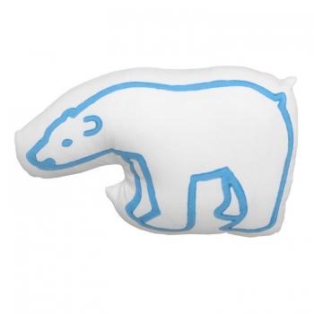 Blue Bear Printed Cushion