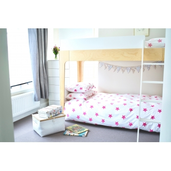 Bright Pink Stars Duvet (Single)
