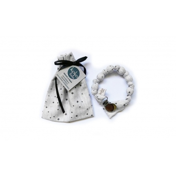 Grey Stars Pacifier Holder