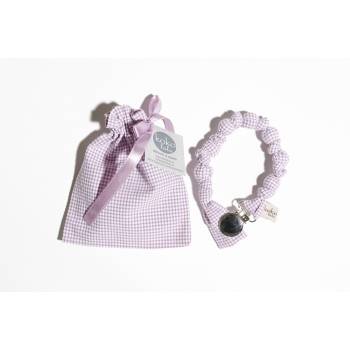 Purple Vichy Pacifier Holder