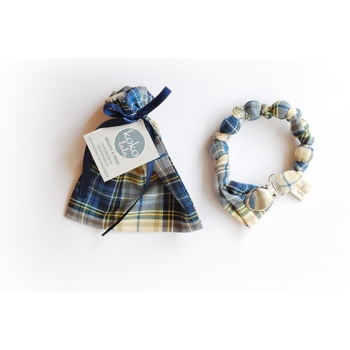 Blue Lumberjack Pacifier Holder