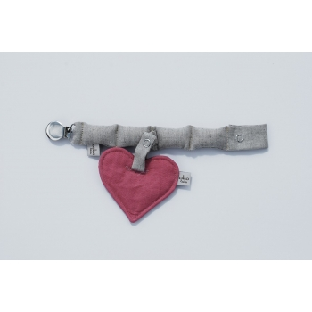 Red Heart Pacifier Holder
