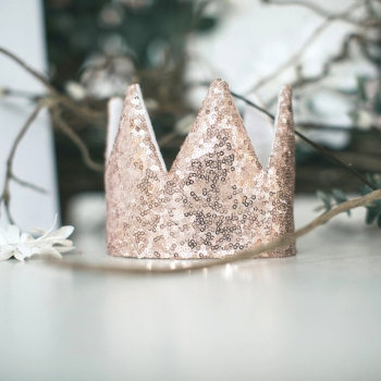 Rose Gold Sequin Crown