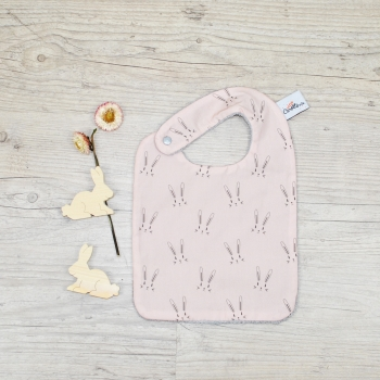 Pink Rabbit Eating Bib