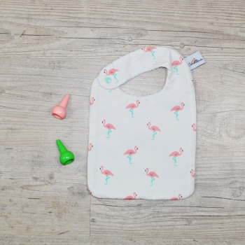 Flamingo Eating Bib