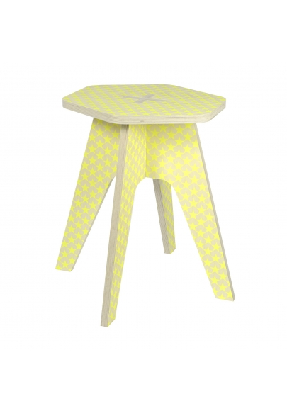 The Stool - Yellow Fluo Stars